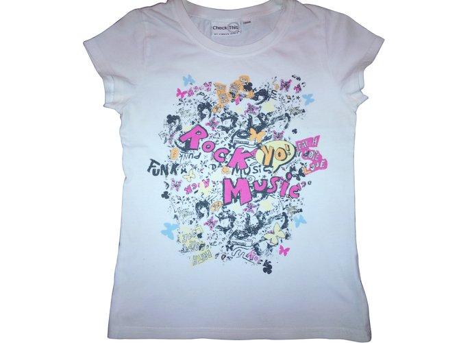 Tops fille Autre Marque T-shirts Coton Blanc ref.104477