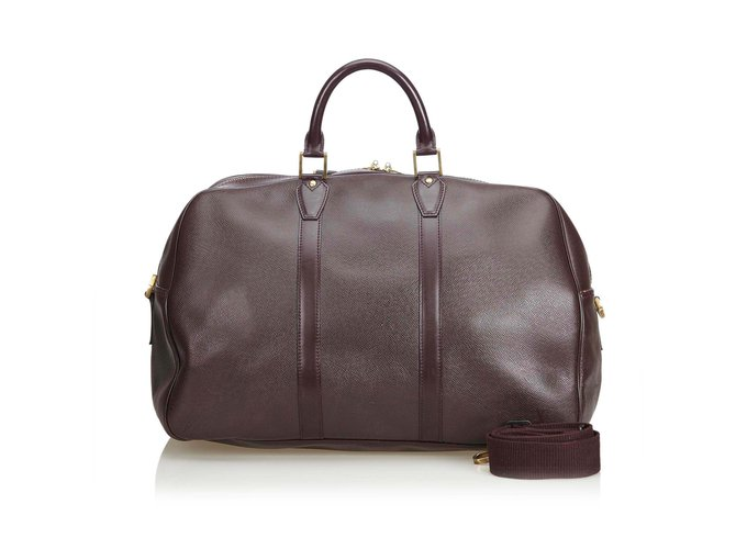 d71db683fba Louis vuitton taiga kendall travel bag leather other brown ref jpg 670x500 Taiga  kendall