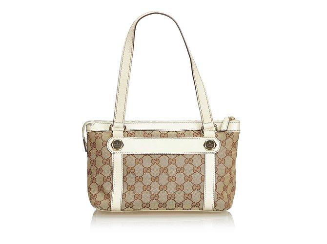 5601240b8b4 Gucci GG Jacquard Shoulder Bag Handbags Leather