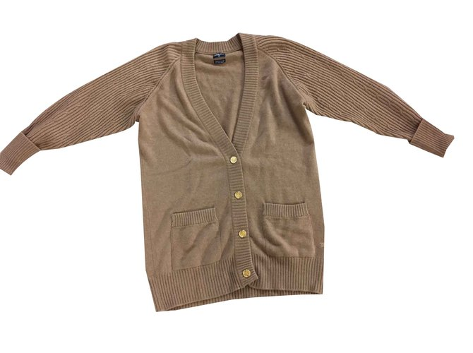 Pulls, Gilets Chanel Tricots Cachemire,Laine Caramel ref.104645