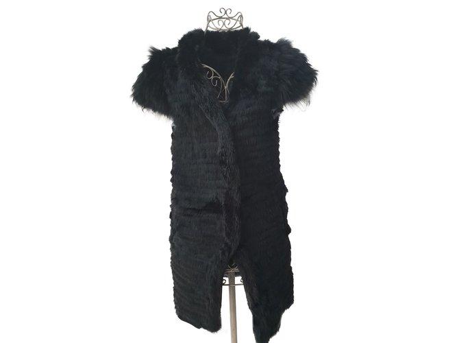 Yves Salomon Fur vest by Meteo by Yves salomon Knitwear Fur Grey ref.104718