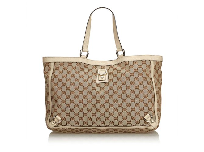 a5b06be21 Gucci GG Abbey-D Ring Tote Bag Totes Leather,Other,Cloth Brown,White ...