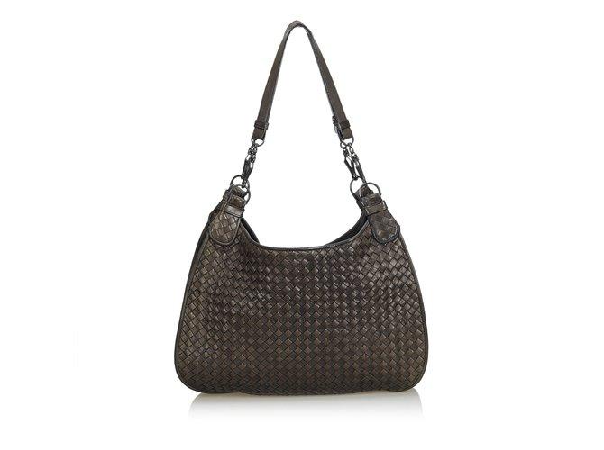 c9ac3f6ad262 Bottega Veneta Intrecciato Leather Hobo Bag Handbags Leather