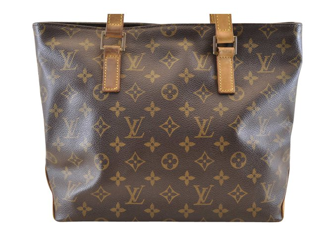 Louis Vuitton Louis Vuitton Cabas Piano Handbags Cloth Brown ref.104941 d1f5fd884