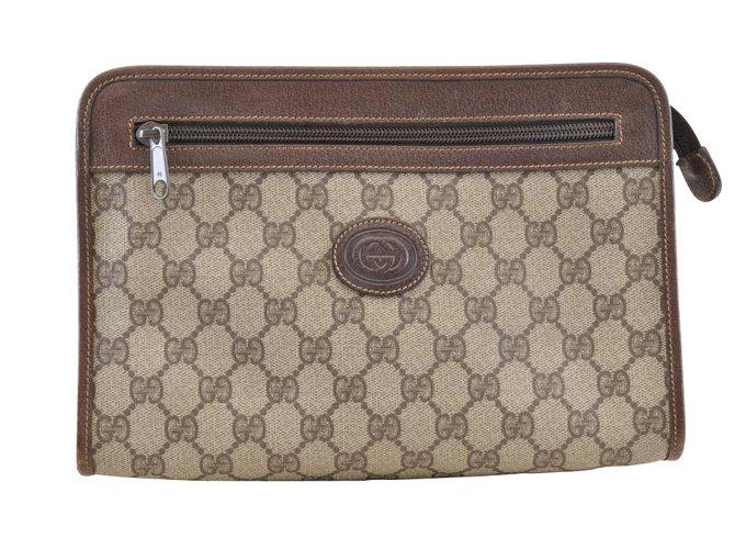 67051cc173b8 Gucci Gucci Clutch bag Handbags Other Brown ref.104981 - Joli Closet