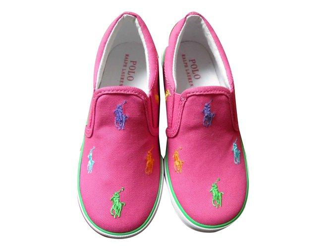 Ralph Lauren LOGO Sneakers Cloth Pink ref.105254