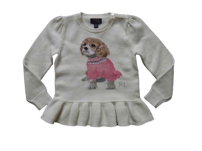 Ralph Lauren puppies Sweaters Cotton Cream ref.105268