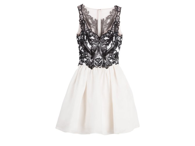 a26c48ccffff Marchesa Marchesa Notte Gazaar silk dress Dresses Silk Black,White ref.99578