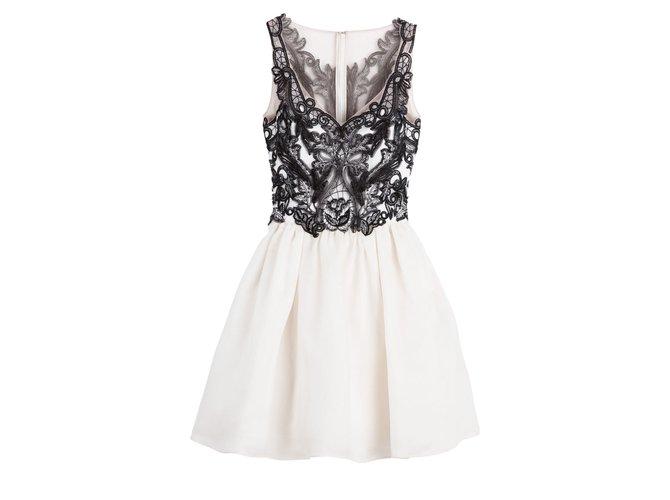 a26c48ccffff Marchesa Marchesa Notte Gazaar silk dress Dresses Silk Black,White ref.99578