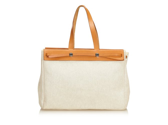 7ca0ec61cd9b Hermès Herbag Cabas MM Totes Leather