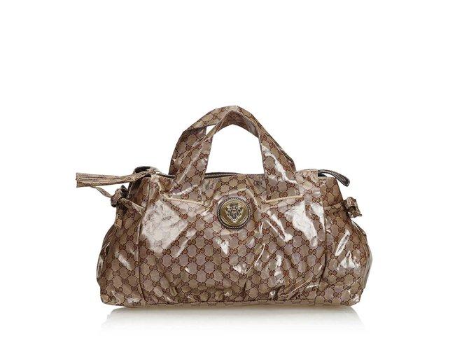 3f628b035f0 Gucci Guccissima Coated Canvas Hysteria Boston Bag Handbags Cloth ...