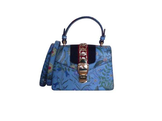 Sacs à main Gucci GUCCI SYLVIE EDITION LIMITEE FLEURS Cuir Multicolore ref.99709