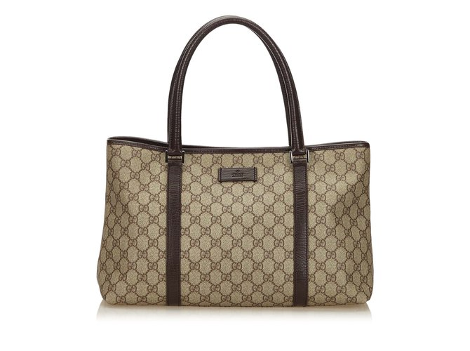 4b258bb2bd0c Gucci Guccissima Tote Bag Totes Leather,Other,Plastic Brown,Beige ref.99871
