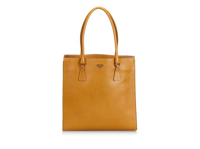2d67891e4bcc Prada Leather Tote Bag Totes Leather