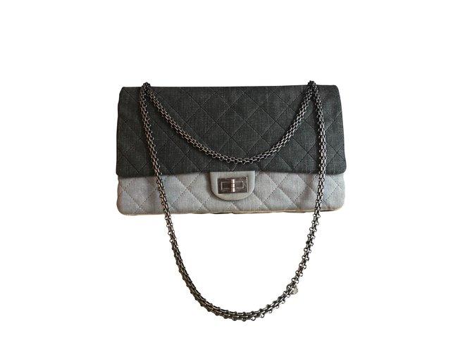 Chanel Reissue Handbags Denim Grey ref.105353