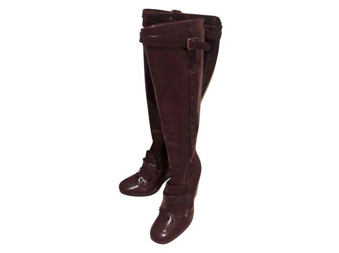 5b1da541991 Tommy Hilfiger Boots Boots Patent leather Dark red ref.105597 - Joli ...