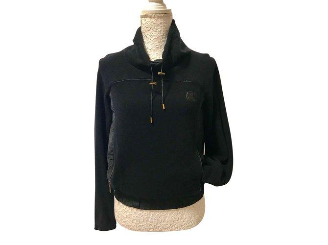 Tailleur jupe Louis Vuitton Sweat shirt Polyester Noir ref.105609