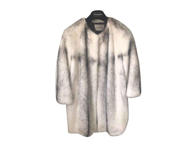 Yves Salomon Yves Salomon mink coat Coats, Outerwear Fur White ref.105720