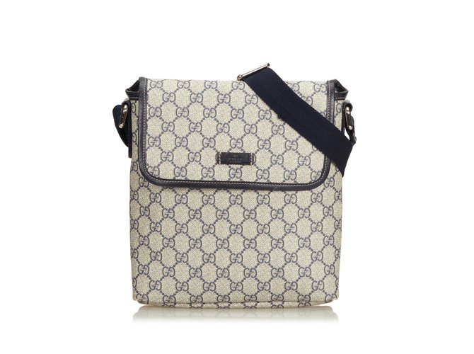 3aa197aefd3 Gucci Coated Canvas GG Supreme Crossbody Bag Handbags  Leather