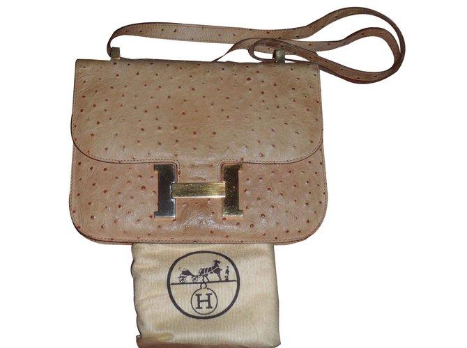 Hermès Constance Handbags Exotic leather Beige ref.105888