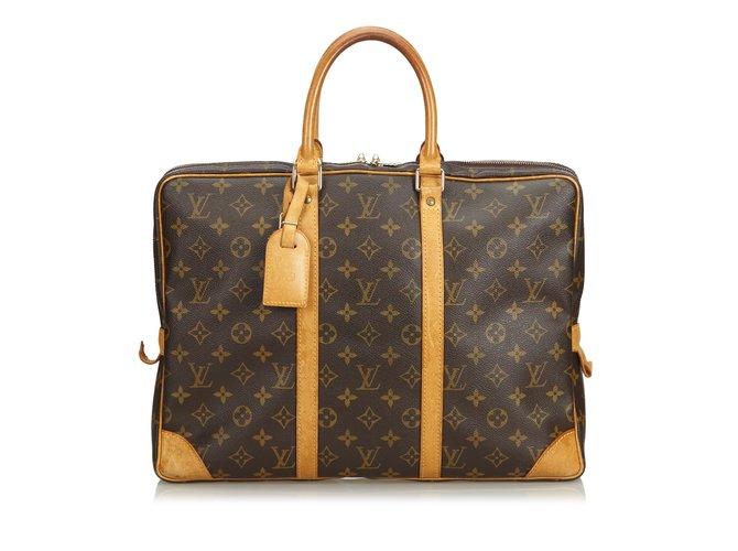 59442314f54e Louis Vuitton Monogram Porte-Document Voyage Misc Leather
