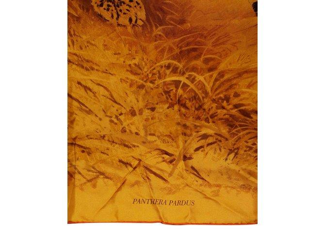 Foulards Hermès Carre Soie Orange ref.106321