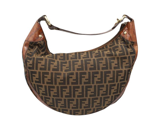 a6a166f242ca Fendi Zucca Handbags Leather Brown ref.106344 - Joli Closet