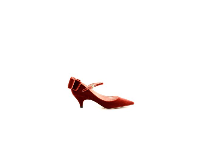 sneakers check out where can i buy Rochas Rochas shoes new Sandals Velvet Dark red ref.106360 - Joli ...
