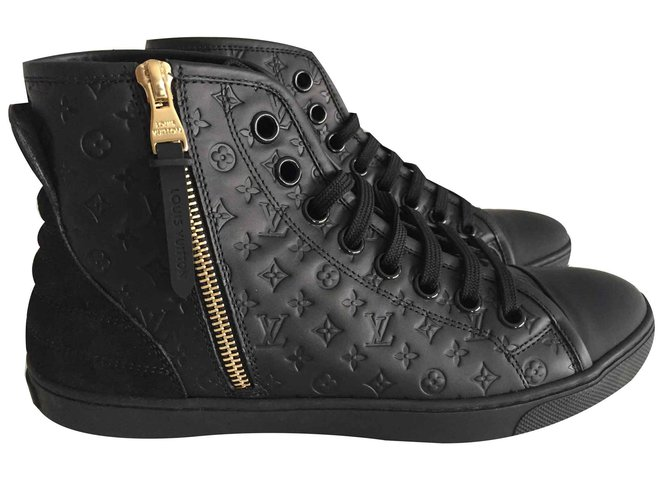 e96a4182ddc1 Louis Vuitton Punchy sneaker boot Sneakers Leather Black ref.106409 ...