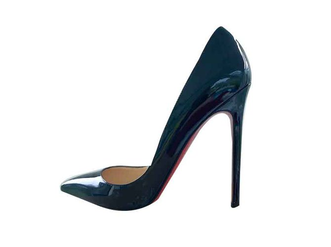 55e0c5e62807 Christian Louboutin Pigalle 120 MM PATENT CALF CHRISTIAN LOUBOUTIN Heels  Patent leather Black ref.106515