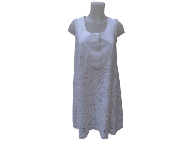 Chloé Dresses Dresses Cotton,Polyamide White,Cream,Eggshell ref.106844