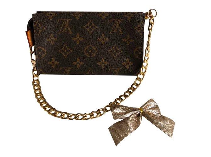 4fc538b462cf Louis Vuitton Clutch bags Clutch bags Leather Brown ref.106848 ...