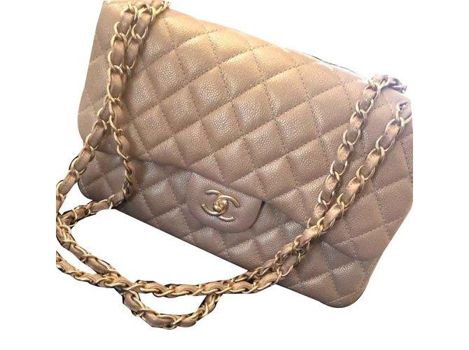 Chanel TIMELESS Handbags Leather Golden ref.106850