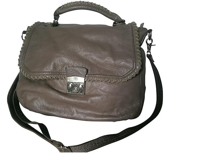 623aac9787 Paul & Joe Sister Handbags Handbags Leather Beige ref.106859 - Joli ...