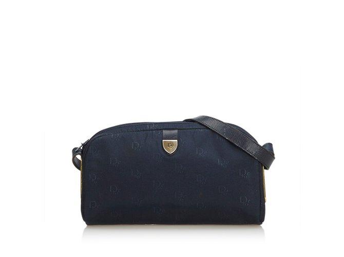 7820515557 Dior Oblique Canvas Crossbody Bag Handbags Leather,Other,Cloth,Cloth  Blue,Navy
