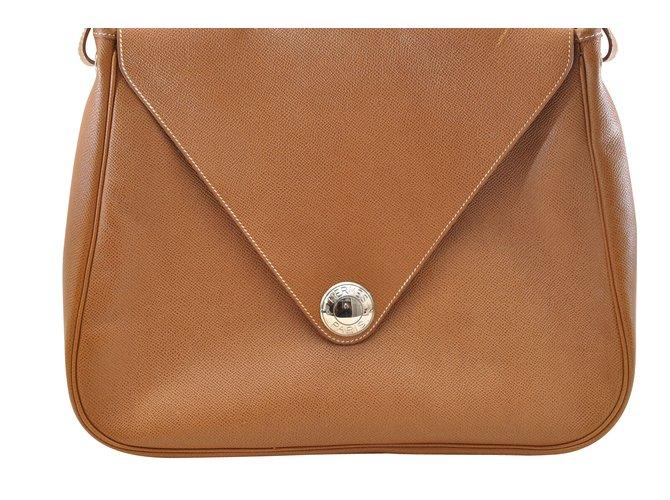 Sacs à main Hermès Hermès Christine Cuir Marron ref.107043
