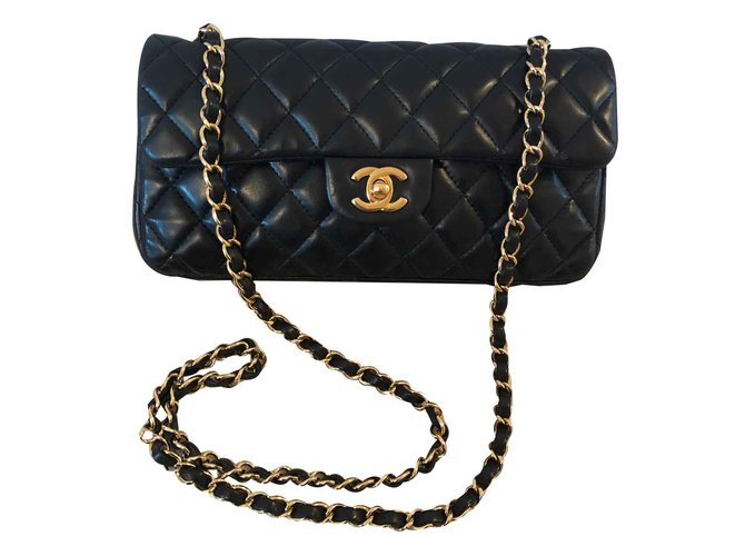 Sacs à main Chanel Timeless Cuir Noir ref.107067