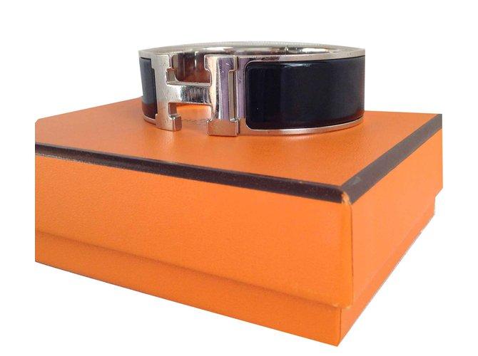 Bracelets Hermès CLIC CLC H Autre Noir ref.107068