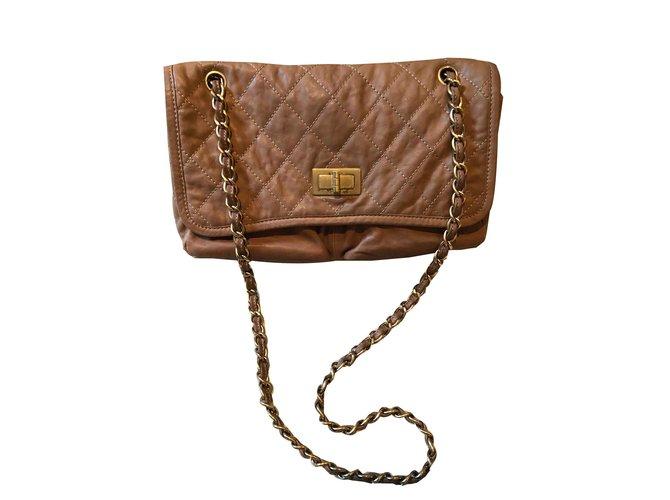 Sacs à main Chanel Classique Cuir Marron ref.107076