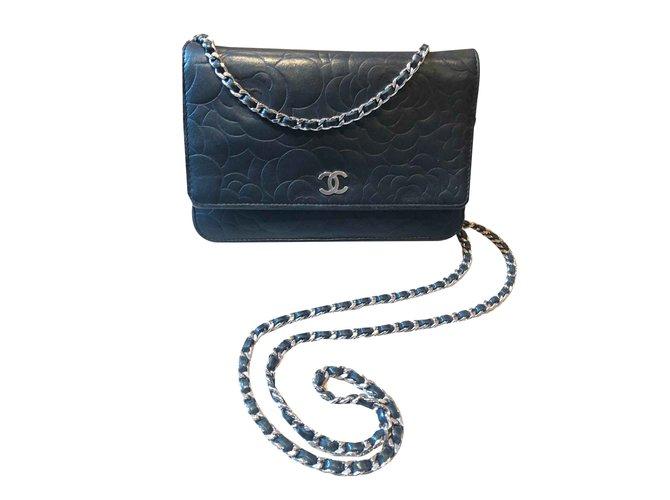 Sacs à main Chanel Woc Cuir Noir ref.107079