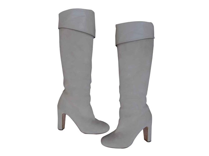 Hermès Boots Boots Leather Cream ref.107082
