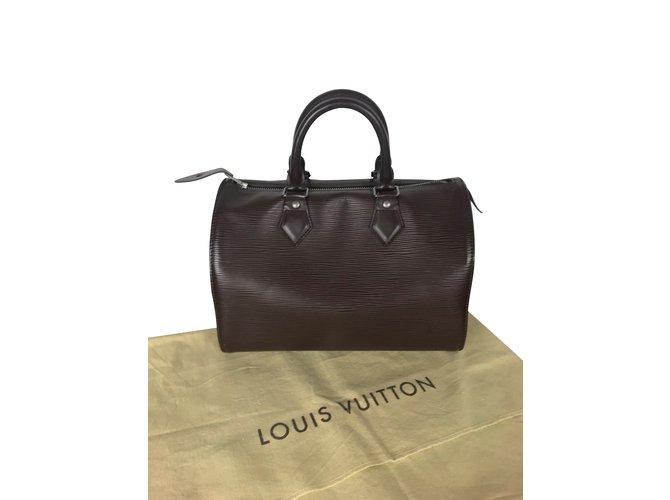 Sacs à main Louis Vuitton Speedy 30 Cuir Marron ref.107129