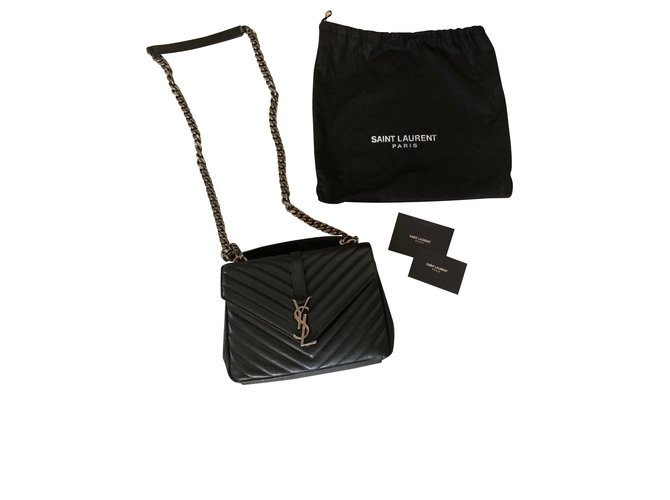Saint Laurent Saint Laurent middle school Handbags Leather Black ref.107147 ee3514e458167