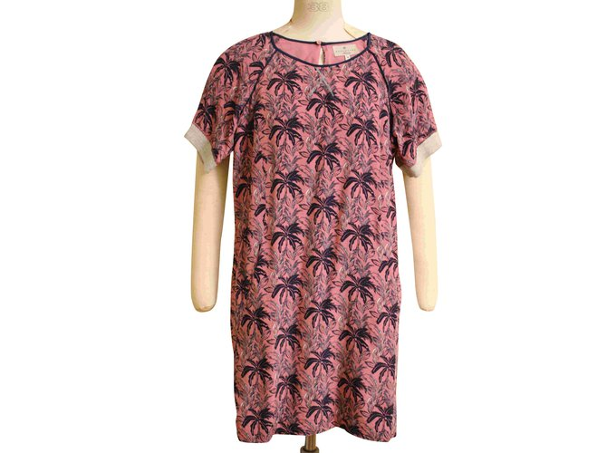 Short Pink Silk Dress