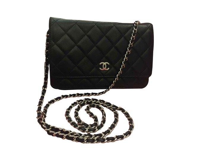 Sacs à main Chanel Woc Cuir Noir ref.107289