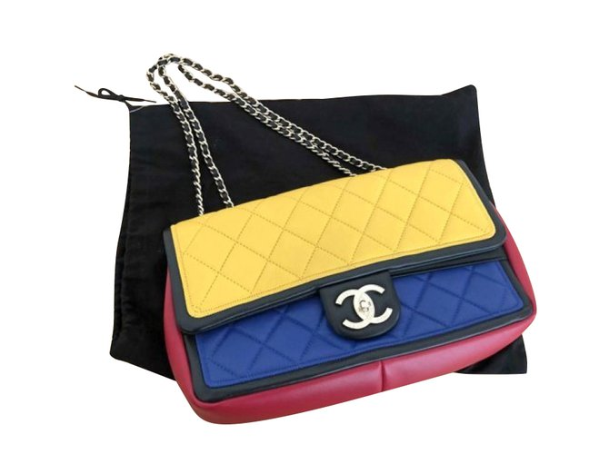 Sacs à main Chanel TIMELESS Cuir Multicolore ref.107360