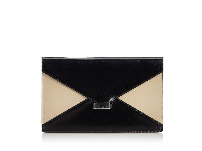 Céline Leather Diamond Clutch Bag Clutch bags Leather 49b4fc47ceda4