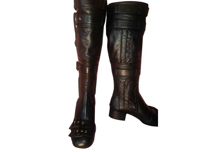 prada knee high boots