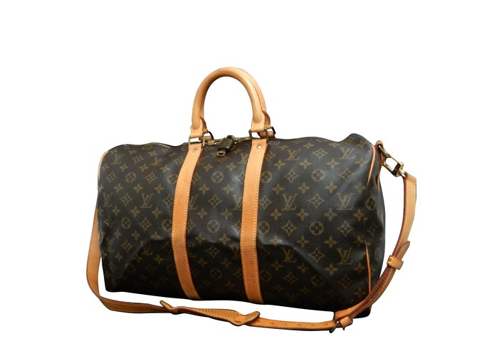 6c5625137c4 Sacs de voyage Louis Vuitton Louis Vuitton Keepall Bandouliere 45 Toile  Marron ref.107657