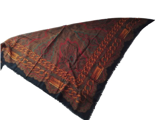 Chanel Silk scarves Silk scarves Wool Other ref.107667